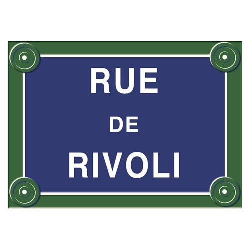 Souvenirs de France - Plaque de Rue Mé tal 'Rivoli' Souvenirs de Paris