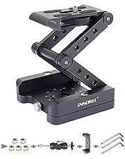"""Z-Flex Tilt Statief Hoofd-INNOREL MH5 CNC Aluminium Alle Metalen Flexibele Vouwen Z Pan 360 ° Horizontale Rotatie met 1/4 """"en 3/8"""" Schroeven, Max Load 7 LBS voor Canon Nikon Sony DSRL Camcorder Slider"""