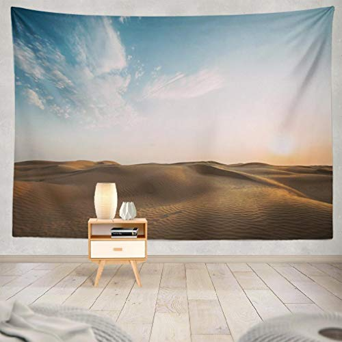 (Hdmly Desert Tapestry Wall Hanging Decor, Decorative Wall Tapestry Desert Landscape with Sky Sand Sunset Abstract 60