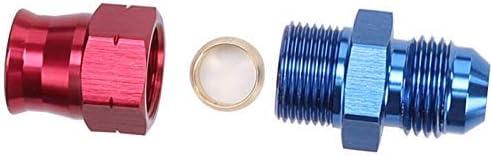 Blue 6 AN Female Tube Nut and Sleeve For 3//8 3//8 inch 9.52mm Tube Hose Line Fitting Aluminum Hardline Fitting Pack of 2