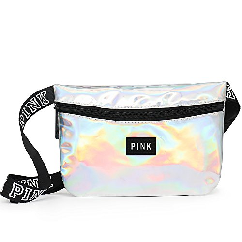 EPOCHMA Holographic Fanny Pack Waist Bag for Women with Adjustable Waist Strap (Silver) by EPOCHMA