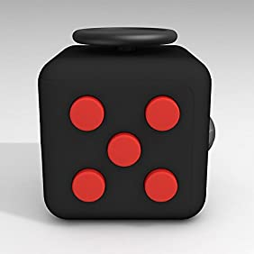 CPEI Anxiety Attention Toy Spinner Fidget Cube for Children and Adults ,Red-black