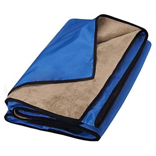 TEEHOME Waterproof Blanket Extra Large for Stadium/Picnic/Camping/Beach and Outdoor Blanket for Couch/Sofa/Bed - All Weather Camping Blanket with Rainproof/Windproof Backing Warm - Sports Blanket