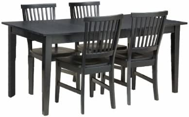 Arts and Crafts Black 5-Piece Rectangular Dining Set by Home Styles