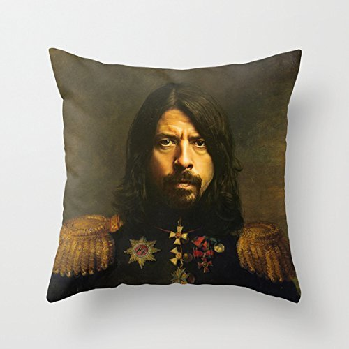Home Style diylancas Cotton Linen Throw Pillow Cover Cushion Case Dave Grohl - replaceface - 45 X 45 cm Square Design by diylancase