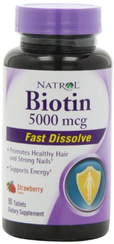 Natrol Biotin Fast Dissolve Tablets, Strawberry fl…