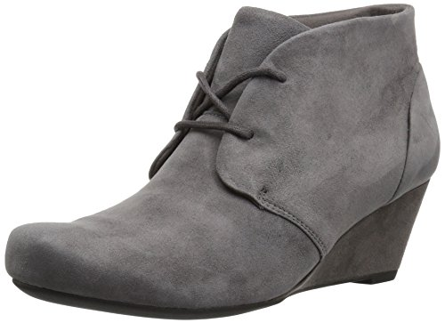 Clarks womens Flores Rose Grey Suede