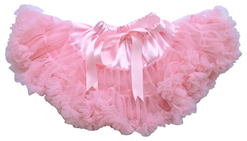 [Dancina Tutu Baby Girl Toddler Fluffy Layered Ballerina Chiffon Pettiskirt Outfit 6-24 months Pink] (Fun Cheap Easy Halloween Costumes)