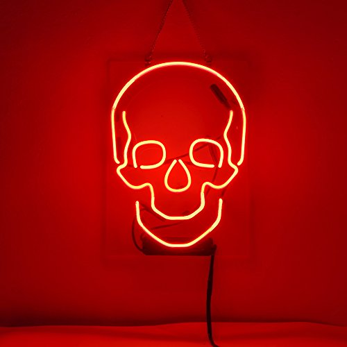 Skull DesignBeer Bar Pub Store Party Room Wall Windows Display Neon Signs ()