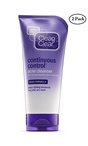 Clean & Clear Continuous Control Acne Cleanser Daily Formula, 5 Oz. Pack of 2.