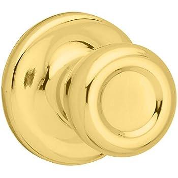 kwikset mobile home hall u0026 closet door knob in polished brass - Closet Door Knobs