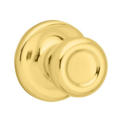 Kwikset 92001-519 Mobile Home Hall & Closet Door Knob in Polished Brass