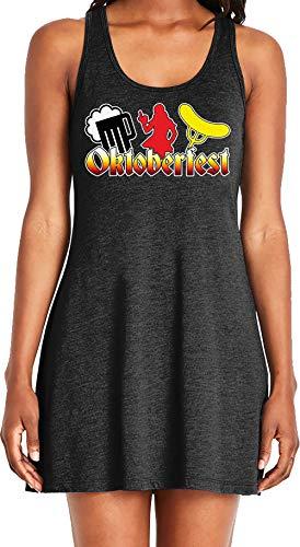 (Amdesco Ladies Oktoberfest Casual Racerback Tank Dress, Black)