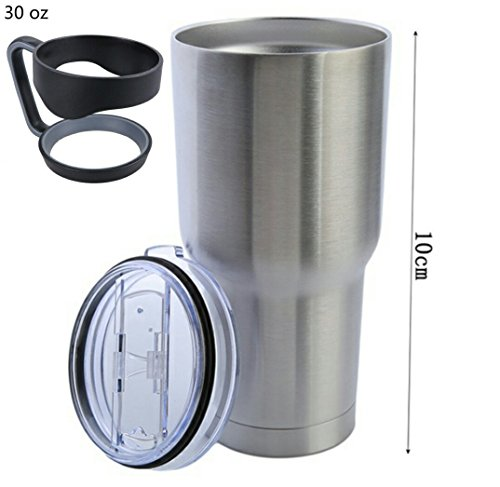 Rambler Tumbler 30 Oz Stainless Steel with Comfort-Grip Handle End Lid. Do Not Compromise on Quality.