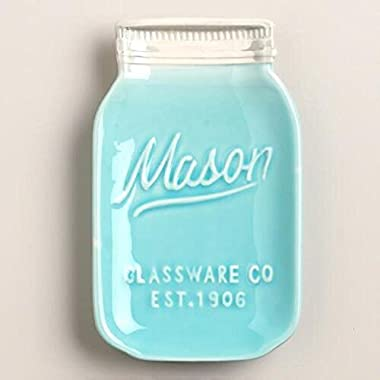 1 X Mason Jar Ceramic Spoon Rest