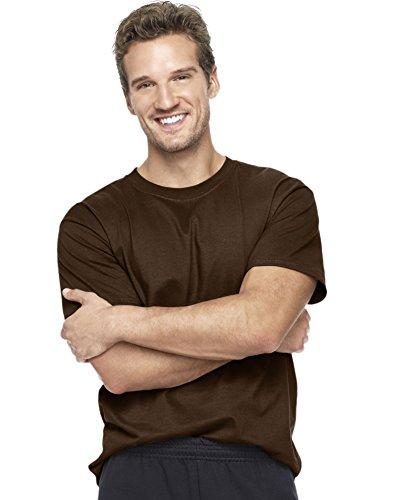 Hanes Beefy-T Adult Short-Sleeve T-Shirt_Dark Chocolate_XL
