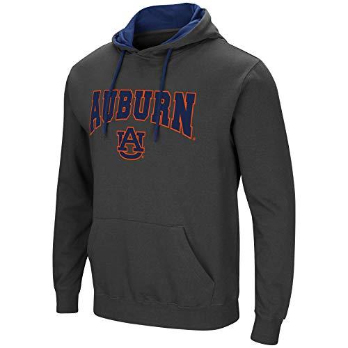 (Colosseum Men's NCAA-Scoreboard-Dual Blend-Fleece Hoodie Pullover Sweatshirt-Charcoal-Auburn Tigers-XL)