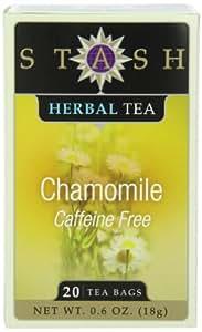 Stash Tea Chamomile Herbal Tea, 20 Count Tea Bags in Foil (Pack of 6)