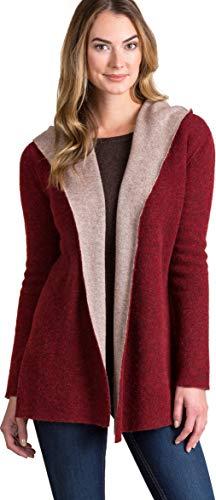 Overland Sheepskin Co Essential Reversible Hooded Alpaca Wool-Blend Cardigan Sweater