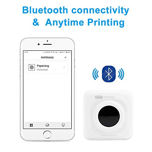 PAPERANG P1 White Mini Wireless Paper Photo Printer Portable Bluetooth Instant Mobile Printer for iPhone/iPad/Mac/Android Devices with Print Papers by Labelife (Image #3)