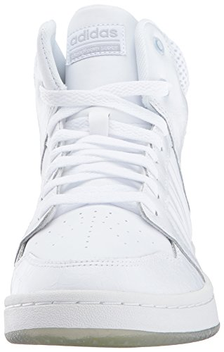 Adidas Neo Donna Cf Superhoops Mid W Scarpa Da Basket Bianco / Bianco / Argento Opaco ...