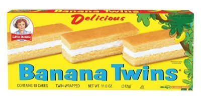 Little Debbie Banana Twins Cakes 11 Oz (16 Boxes)