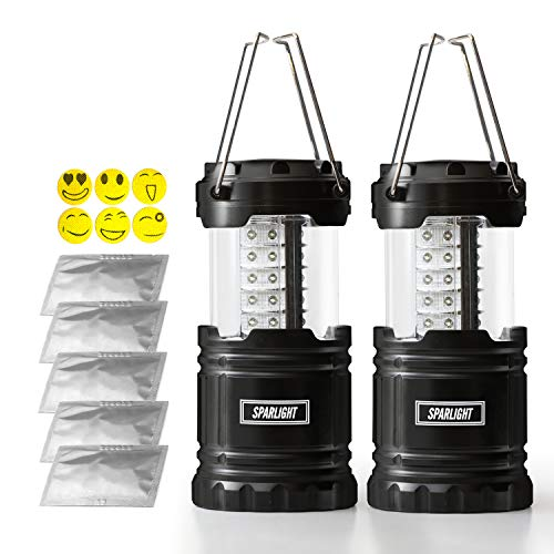 Sparlight Portable Outdoor LED Camping Lantern (3 AA Batteries)- Emergency Power Outages, Storms, Highway Crisis, Multipurpose, Lightweight and Collapsible (w/ 30 pieces of mosquito repellent patch)