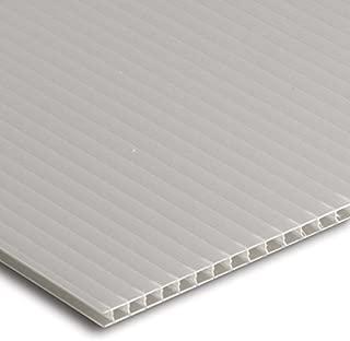 "product image for Falken Design COR-WT-4MM/1824 Coroplast Sign Board, Corrugated Fluted Plastic Sheet 4mm (0.157""), 18"" x 24"" - White, Plastic"