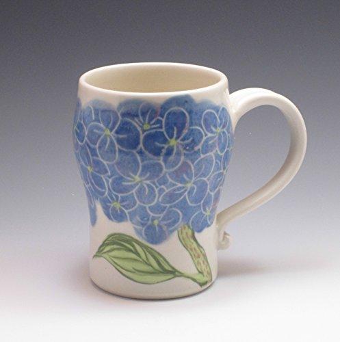 Large Porcelain Stein, mug in hydrangea - Hydrangea Pattern