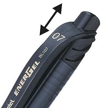 punta retrattile da 0,7mm Penne roller con inchiostro a Gel Inchiostro Verde Pentel EnergelX confezione da 12
