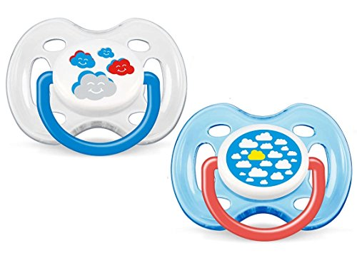 Philips AVENT BPA Free Fashion Infant Pacifier, 0-6 Months, 2 Pack, Clouds