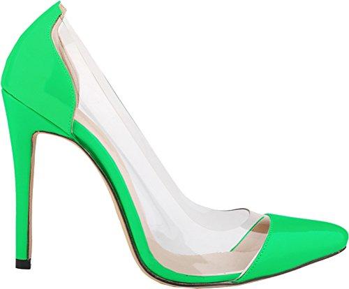 Cuña Mujer Salabobo Sandalias Verde Con Eq8ar8v