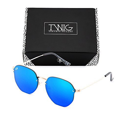 Gafas sol de hombre Azul espejo PERET Bronce degradadas TWIG mujer frfxT5nqH