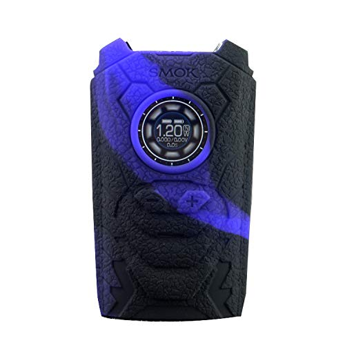 DSC-Mart Texture Silicone Case for SMOK I-Priv 230W Kit Box Mod, Protective Sleeve Wrap Skin Decal Fits Ipriv Voice Control TC (Blackpurple)