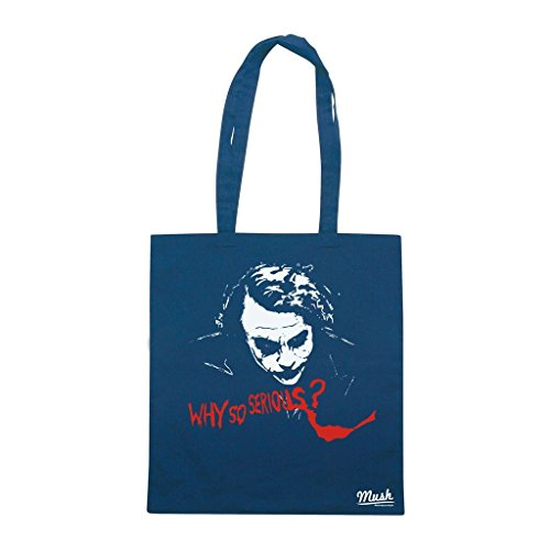 Borsa Joker Why So Serious - Blu Navy - Film by Mush Dress Your Style
