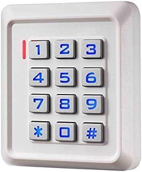 Digicode, teclado con códigos y etiquetas RFID de puerta