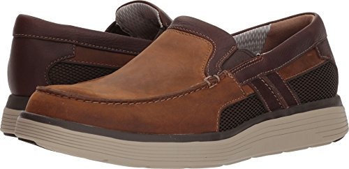 CLARKS Mens Un Adobe Free Loafer, Light Tan Leather, Size -