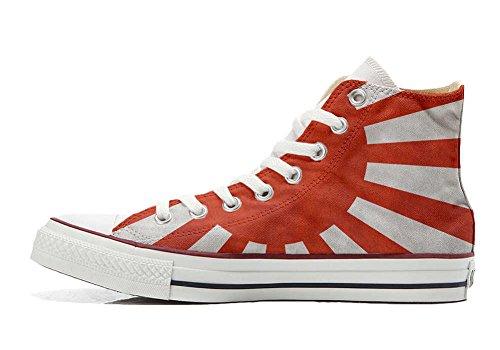 Converse PERSONALIZZATE All Star Hi Canvas, Sneaker Uomo/Donna (Prodotto Artigianale) con bandiera Japan - TG38
