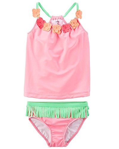 Toddler Piece Girls Tankini 2 (Carter's Girls' Two Piece Swimsuit Set (Baby/Toddler/Kid) (Hawaiian Tankini, 8))
