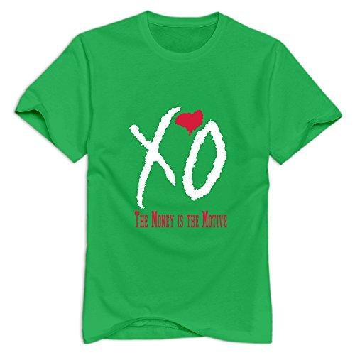 Yisw Men Money Motive T-Shirt XXL ForestGreen 100% Cotton Cute T Shirts