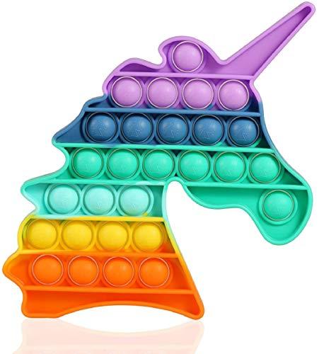 밀어 거품 감각이 안절부절 장난감을 재미있는 구호를 스트레스를 바탕 화면 게임 소프트 짜 참신 장난감 선물을 위한 아이는 성인(유니콘)