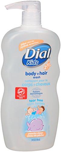 Dial enfants Peachy propre parfum Body & laver les cheveux, Tear gratuit, avec pompe, 24 onces (Pack de 4)