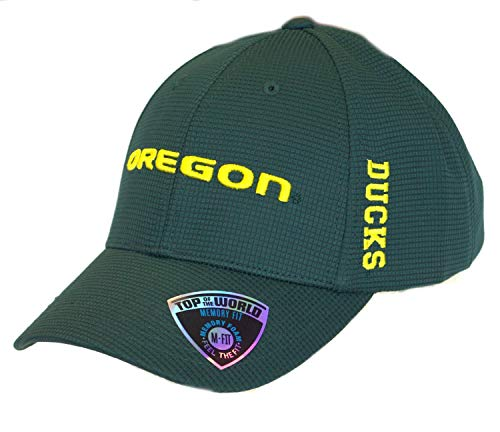 - NCAA Licensed Oregon Ducks Textured Memory Fit Baseball Hat Cap Lid