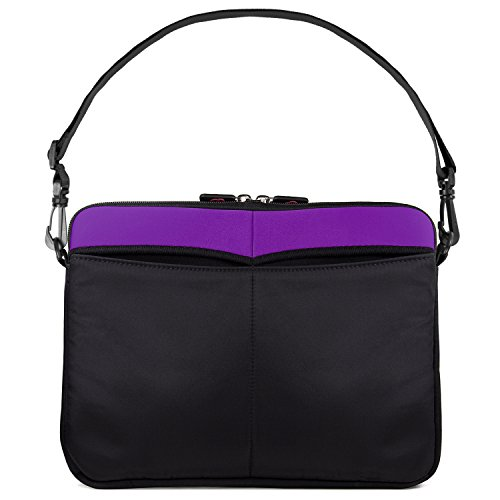 Kroo 12-13 Inch Laptop Sleeve Tablet Bag, Water Resistant Neoprene Notebook Computer Carrying Cover for MacBook, Microsoft Surface, Chromebook (Purple) by Kroo (Image #8)