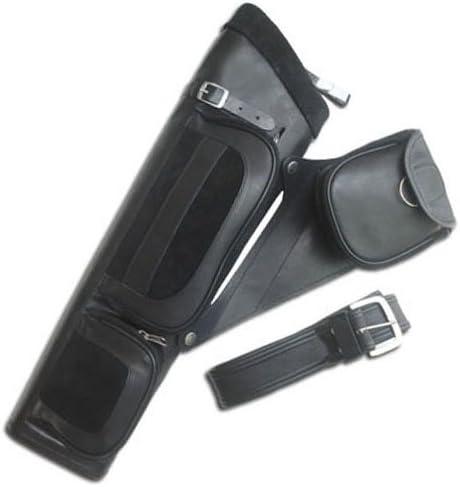 Carol Archery Leather Side//Hip Belt Arrow Quiver AQ122 Black L//H