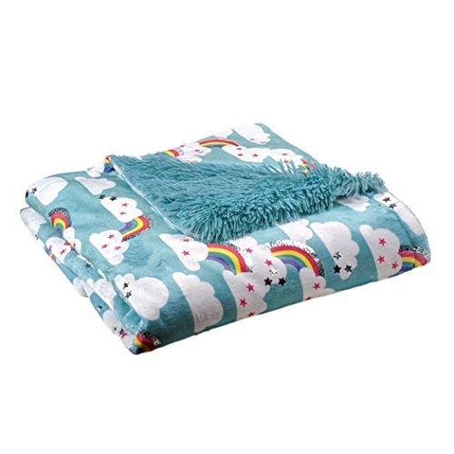 "AVAFORT Velvet Plush Home Fleece Throw Blanket (Rainbow, 50""x 60"")"