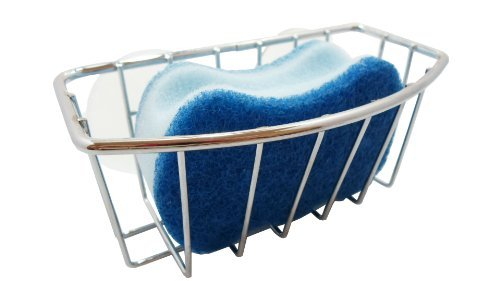 (Neat-O Chrome-Plate Steel Large Suction Cup Sponge Holder)