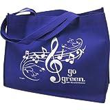 Gift House Music Staff Reusable Tote Bag – (Royal) For Sale
