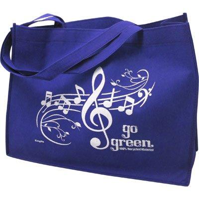 Royal Gift House Music Staff Reusable Tote Bag