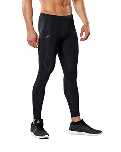 2XU Men's Core Compression Tights, Black/Nero, Large